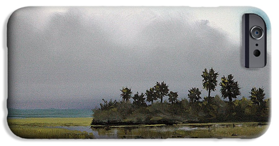Landscape IPhone 6 Case featuring the painting Rain On The Way by Glenn Secrest