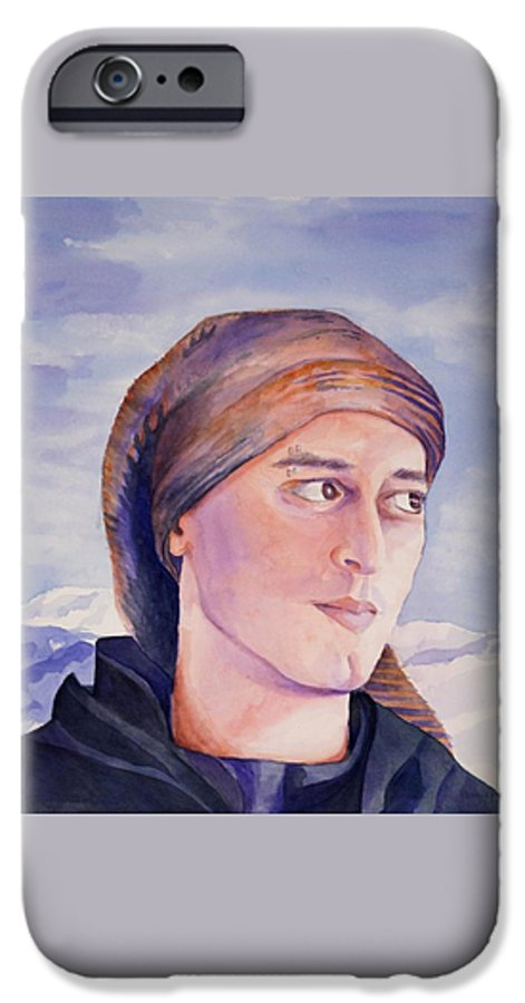 Man In Ski Cap IPhone 6 Case featuring the painting Ram by Judy Swerlick