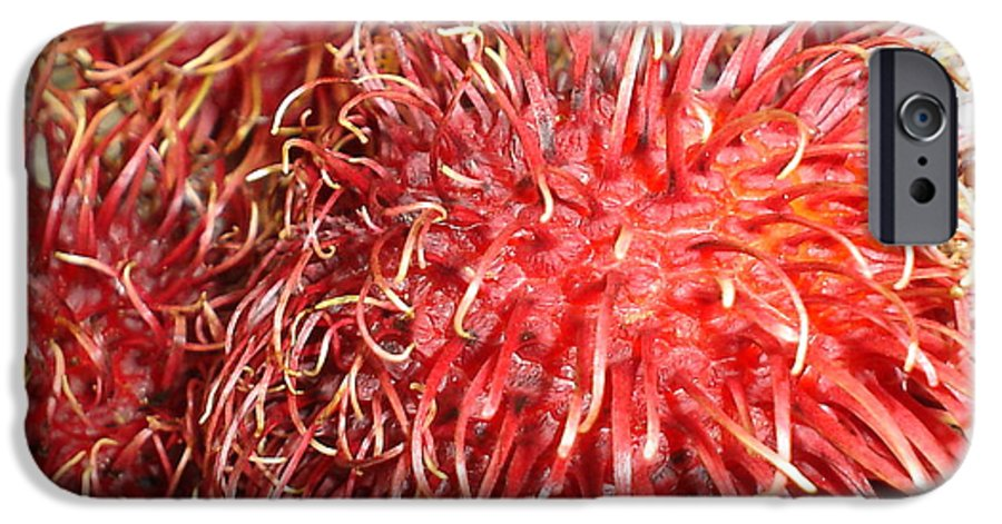 Fruit Close Up IPhone 6 Case featuring the photograph Rambutan by Chandelle Hazen