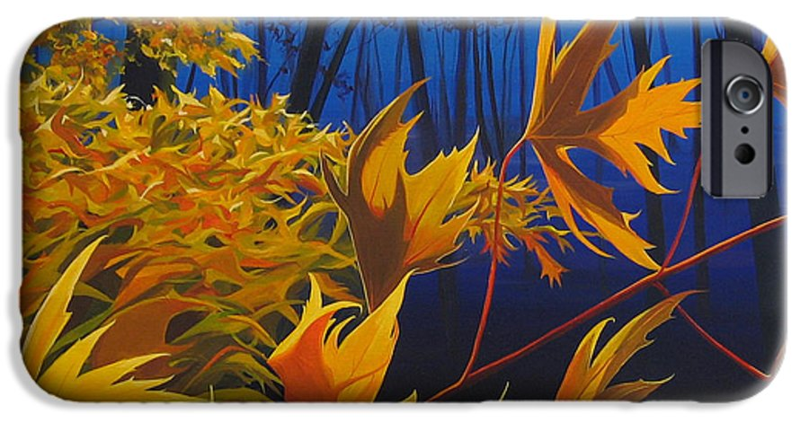 Autumn Leaves IPhone 6 Case featuring the painting Raucous October by Hunter Jay