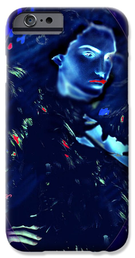 A Bizarre Evil Witch Flies With The Ravens IPhone 6 Case featuring the digital art Raven Woman by Seth Weaver