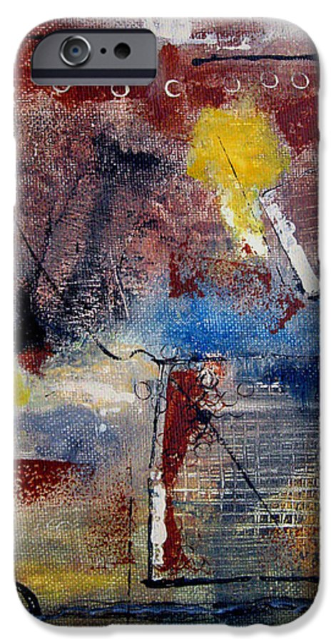 Abstract IPhone 6 Case featuring the painting Raw Emotions II by Ruth Palmer