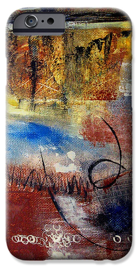 Abstract IPhone 6 Case featuring the painting Raw Emotions by Ruth Palmer