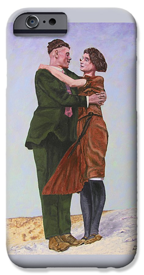 Double Portrait IPhone 6 Case featuring the painting Ray And Isabel by Stan Hamilton