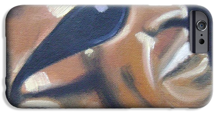 Ray Charles IPhone 6 Case featuring the painting Ray Charles by Toni Berry