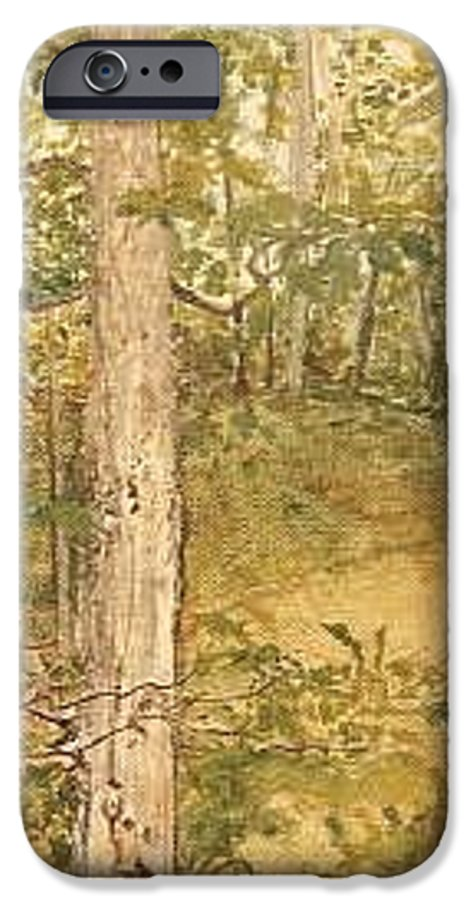Trees IPhone 6 Case featuring the painting Raystown Lake by Leah Tomaino