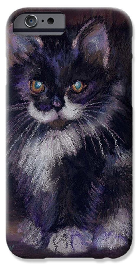 Kitten IPhone 6 Case featuring the painting Ready For Trouble by Sharon E Allen
