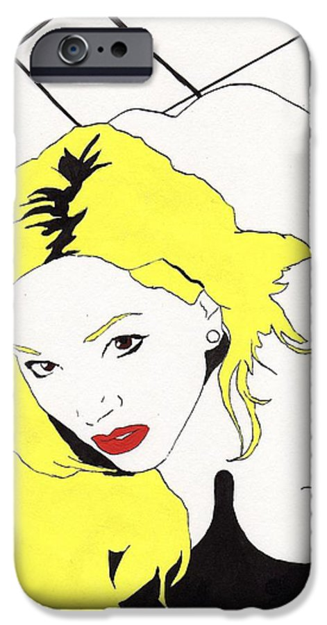 Nude Portrait Female IPhone 6 Case featuring the drawing Rear Window by Stephen Panoushek