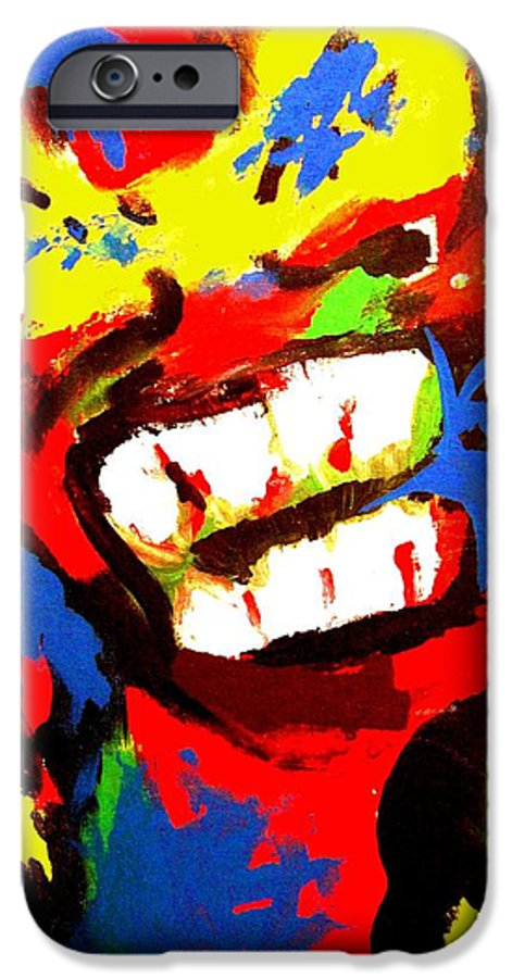 Teenager IPhone 6 Case featuring the painting Rebel Rebel by Alan Hogan
