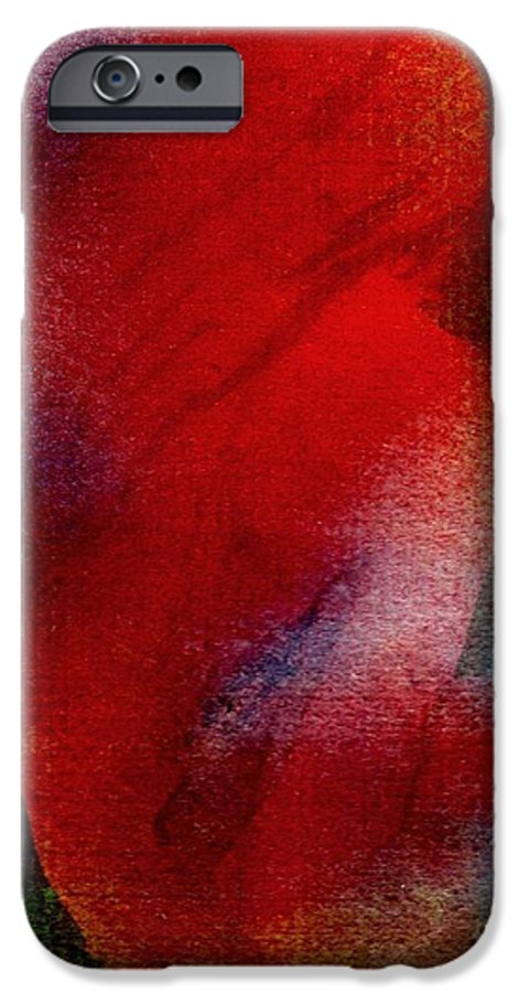 Nude IPhone 6 Case featuring the painting Red Boudoir by Susan Kubes
