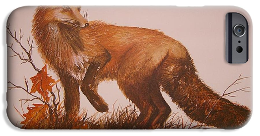 Nature IPhone 6 Case featuring the painting Red Fox by Ben Kiger