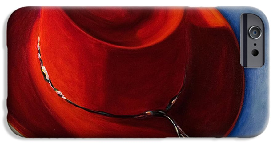 Red Hat IPhone 6 Case featuring the painting Red Hat by Shannon Grissom