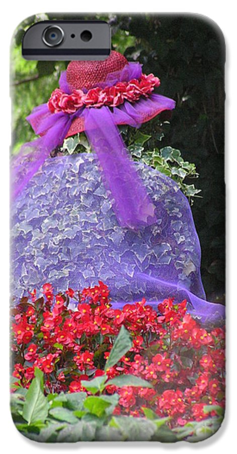 Red Hat IPhone 6 Case featuring the photograph Red Hat Veil by Louise Magno