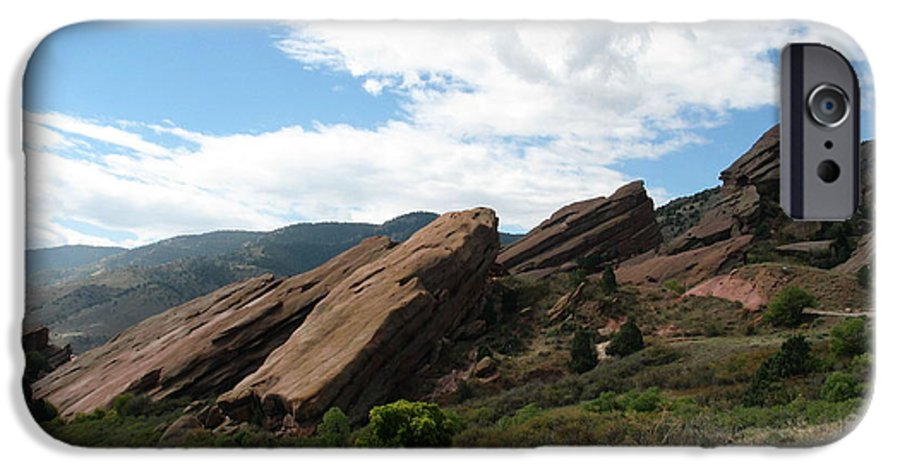 Red Rocks IPhone 6 Case featuring the photograph Red Rocks Denver by Margaret Fortunato