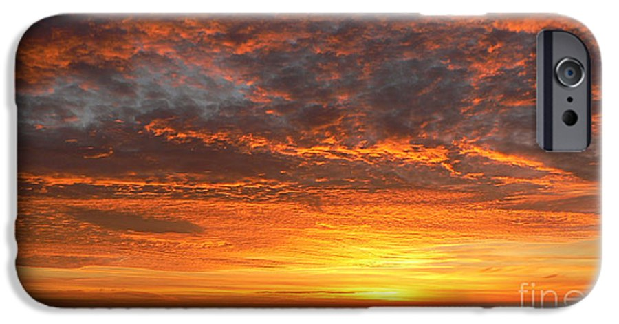 Northwest IPhone 6 Case featuring the photograph Red Skies At Night by Larry Keahey