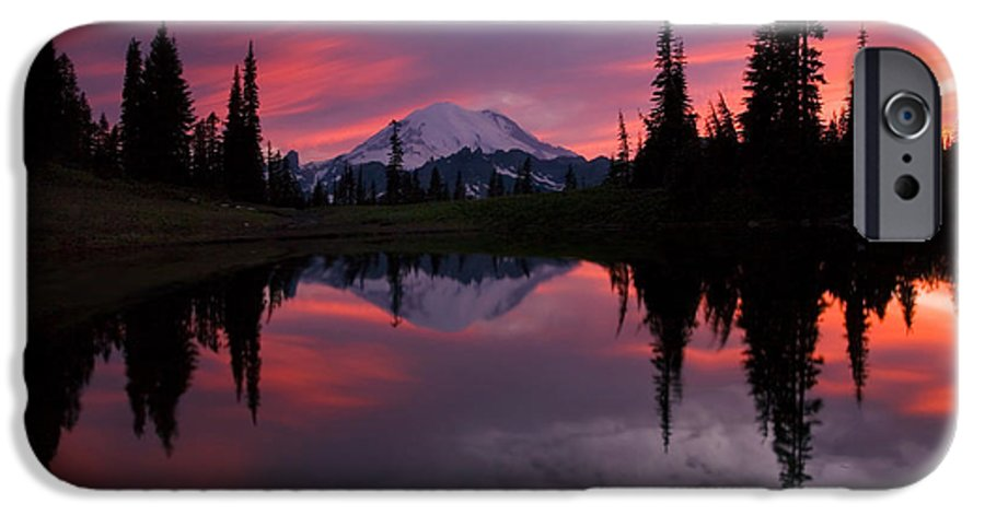 Rainier IPhone 6 Case featuring the photograph Red Sky At Night by Mike Dawson