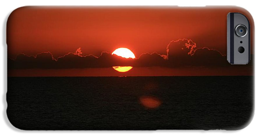 Sunset IPhone 6 Case featuring the photograph Red Sunset Over The Atlantic by Nadine Rippelmeyer