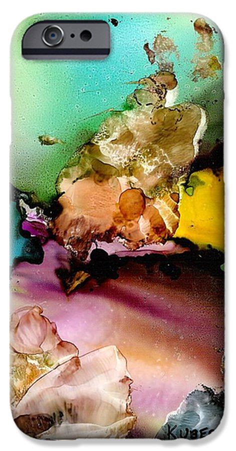 Reef IPhone 6 Case featuring the mixed media Reef 3 by Susan Kubes