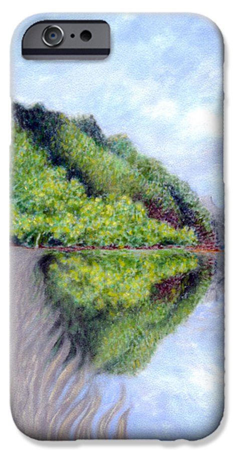 Coastal Decor IPhone 6 Case featuring the painting Reflection by Kenneth Grzesik