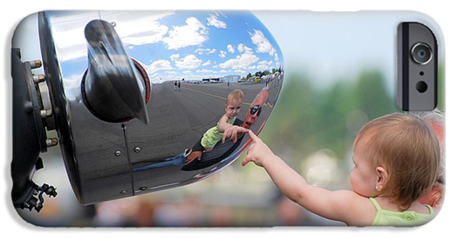 Children IPhone 6 Case featuring the photograph Reflection by Larry Keahey