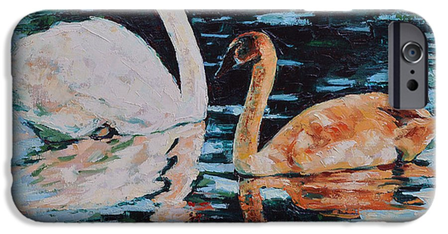 Blue IPhone 6 Case featuring the painting Reflections by Iliyan Bozhanov