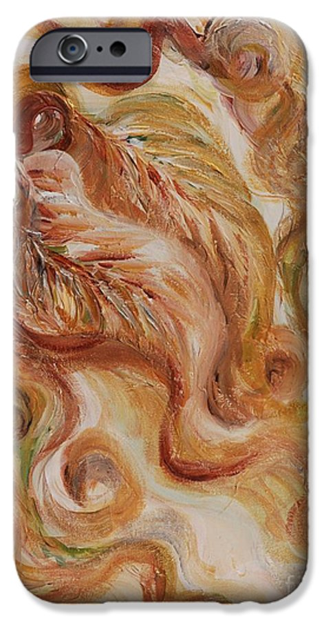 Leaves IPhone 6 Case featuring the painting Reflective Leaves by Nadine Rippelmeyer