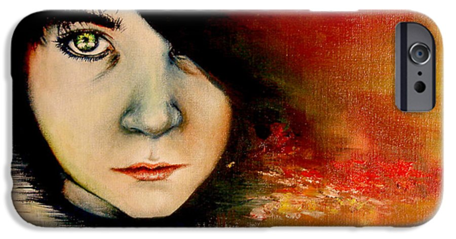 Sunset IPhone 6 Case featuring the painting Regaining Strenght by Freja Friborg