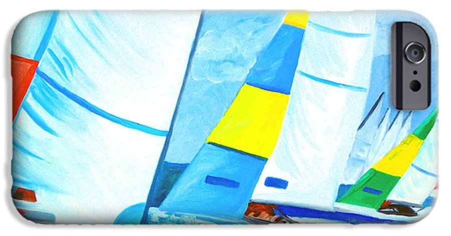 Sailing IPhone 6 Case featuring the painting Regatta by Michael Lee