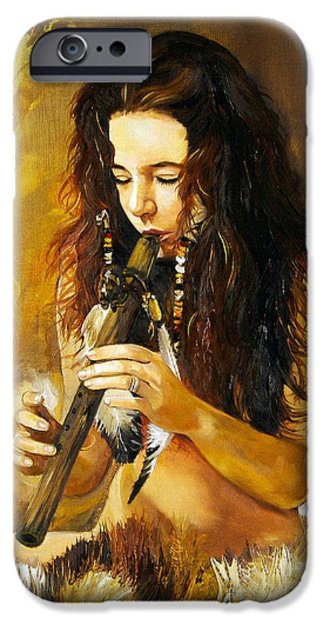 Woman IPhone 6 Case featuring the painting Release by J W Baker