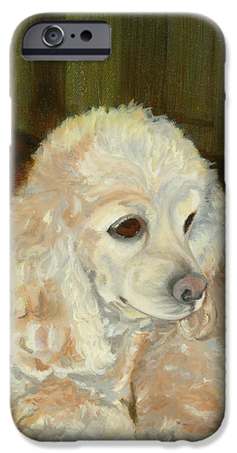 Animal IPhone 6 Case featuring the painting Remembering Morgan by Paula Emery