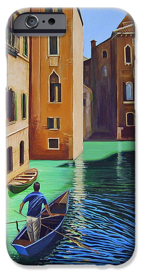 Canal In Venice IPhone 6 Case featuring the painting Remembering Venice by Hunter Jay