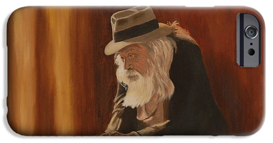 Man IPhone 6 Case featuring the painting Remembrance by Quwatha Valentine