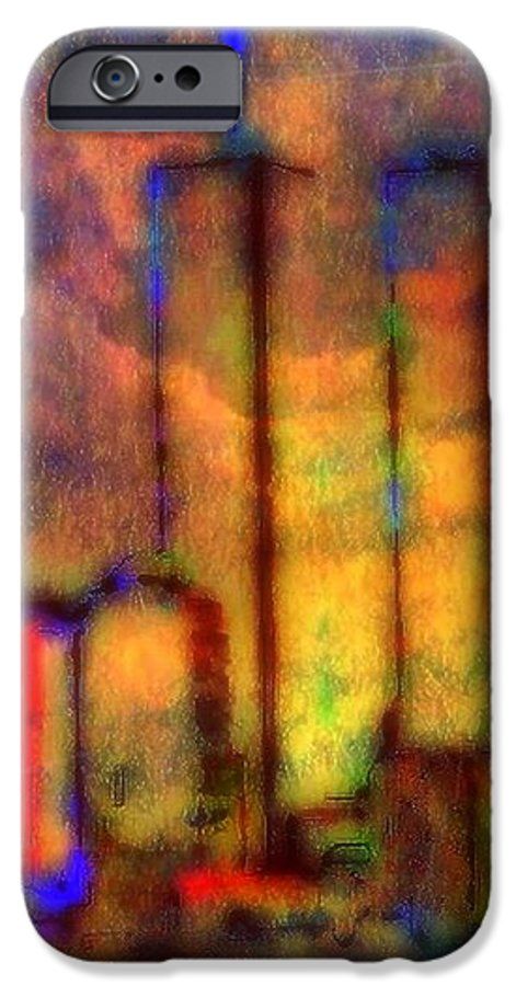 Twin Towers IPhone 6 Case featuring the painting Remembrance by Wbk
