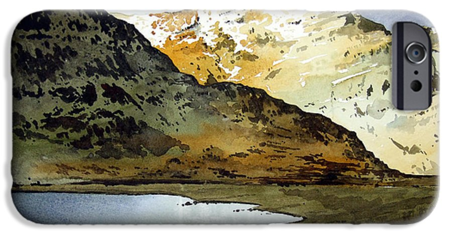 Watercolour Landscape Of Scottish Mountains IPhone 6 Case featuring the painting Rest And Be Thankful Pass by Paul Dene Marlor