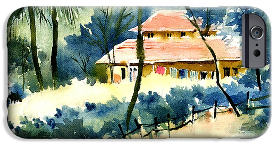 Landscape IPhone 6 Case featuring the painting Rest House by Anil Nene