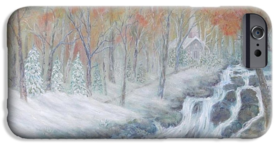 Snow; Landscape; Church IPhone 6 Case featuring the painting Reverence by Ben Kiger
