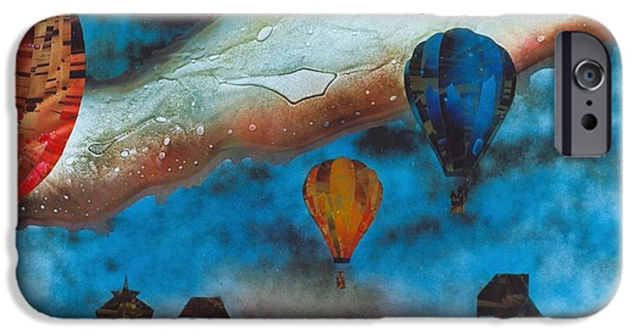 Landscape IPhone 6 Case featuring the painting Riding The Chinook by Rick Silas