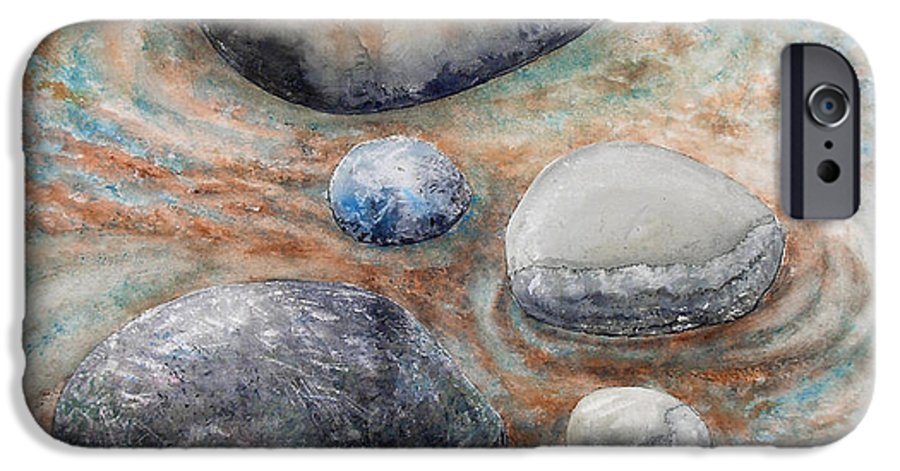 Abstract IPhone 6 Case featuring the painting River Rock 2 by Valerie Meotti