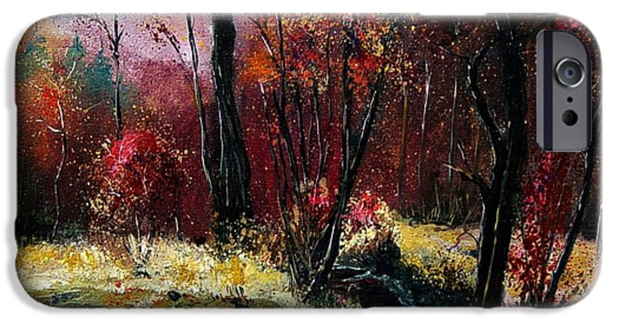 River IPhone 6 Case featuring the painting River Ywoigne by Pol Ledent