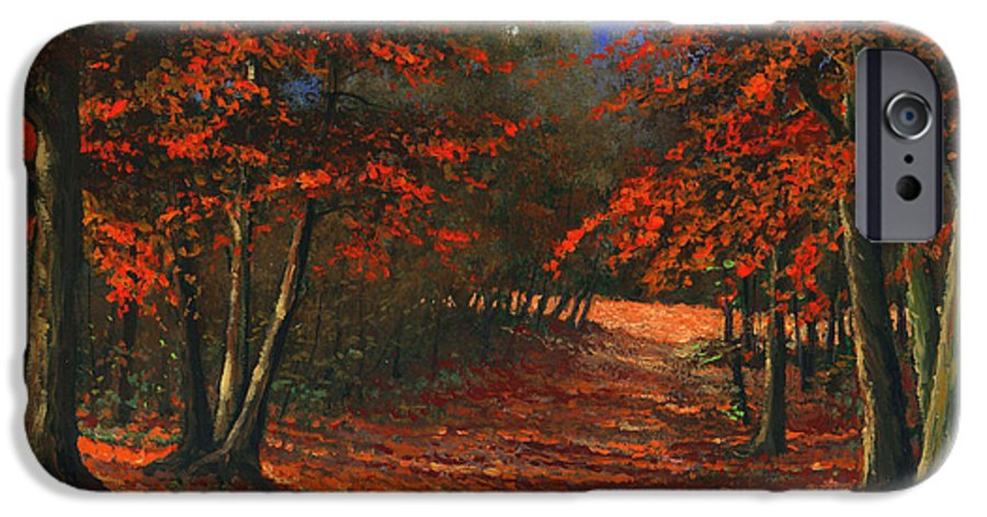 Landscape IPhone 6 Case featuring the painting Road To The Clearing by Frank Wilson