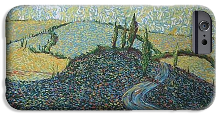 Landscape IPhone 6 Case featuring the painting Road To Tuscany by Stefan Duncan