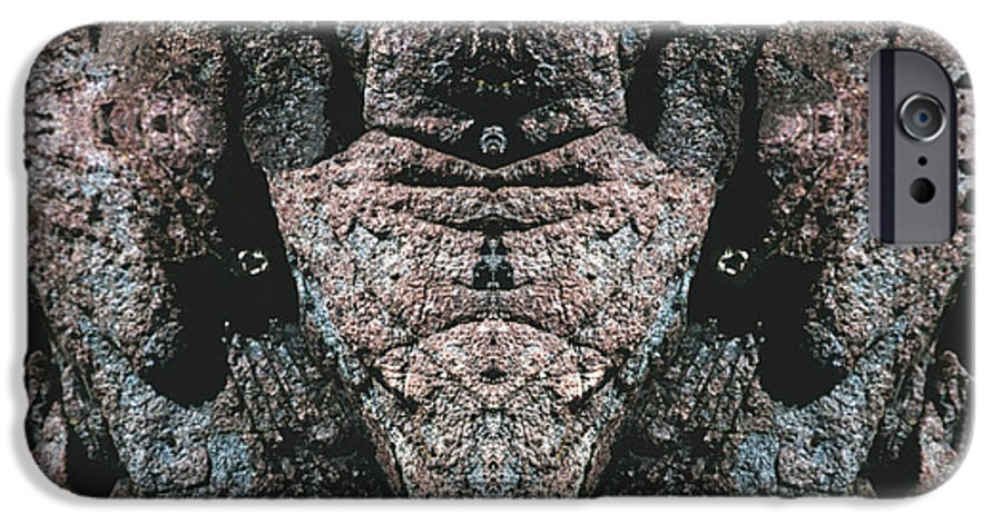 Rocks IPhone 6 Case featuring the digital art Rock Gods Elephant Stonemen Of Ogunquit by Nancy Griswold