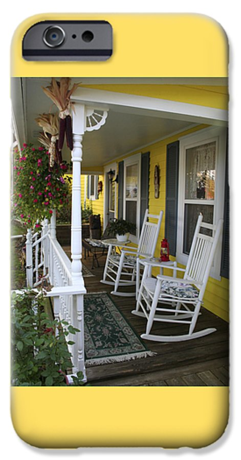 Rocking Chair IPhone 6 Case featuring the photograph Rockers On The Porch by Margie Wildblood