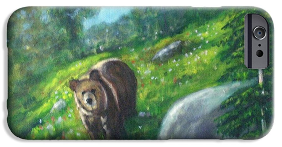 Wildlife IPhone 6 Case featuring the painting Rocky Mountain Spring by Darla Joy Johnson