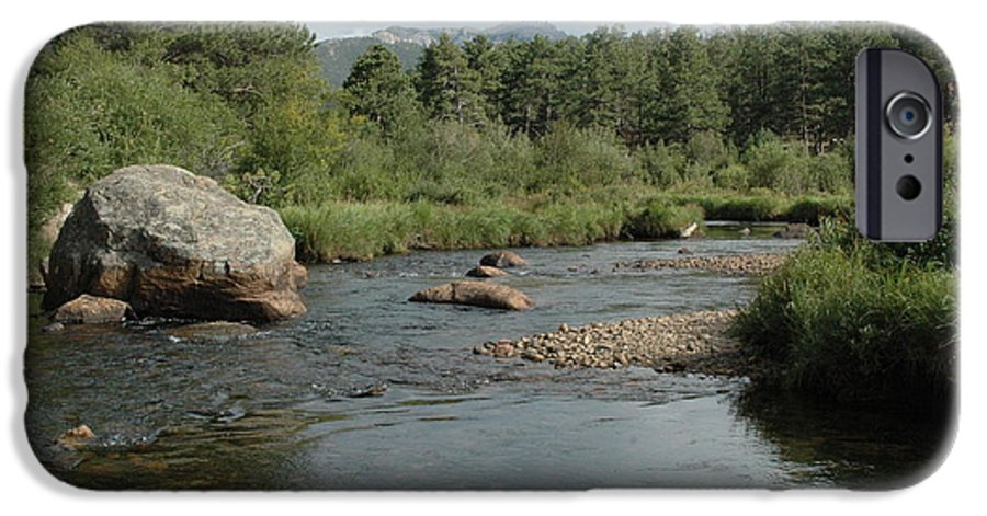 Nature IPhone 6 Case featuring the photograph Rocky Mountain Stream by Kathy Schumann