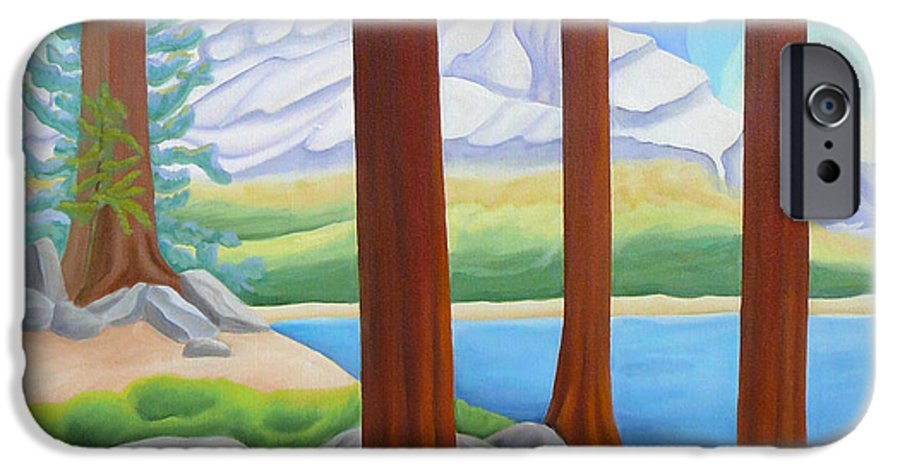 Landscape IPhone 6 Case featuring the painting Rocky Mountain View 1 by Lynn Soehner