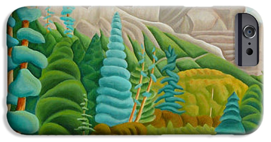 Landscape IPhone 6 Case featuring the painting Rocky Mountain View 2 by Lynn Soehner