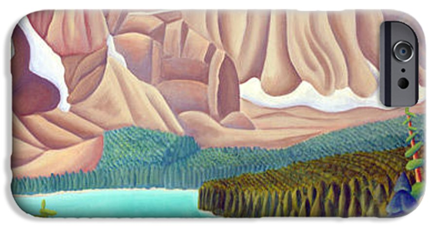 Landscape IPhone 6 Case featuring the painting Rocky Mountain View 3 by Lynn Soehner