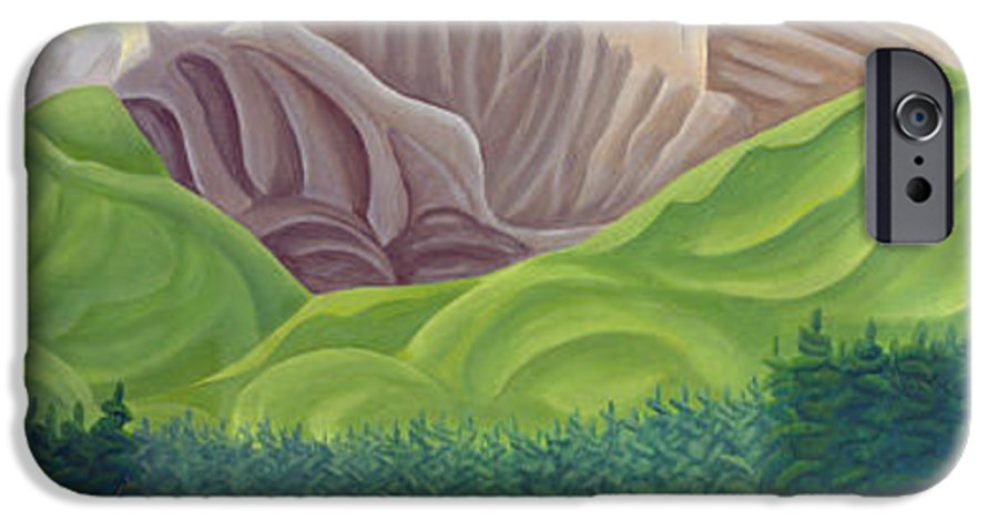 Landscape IPhone 6 Case featuring the painting Rocky Mountain View 4 by Lynn Soehner