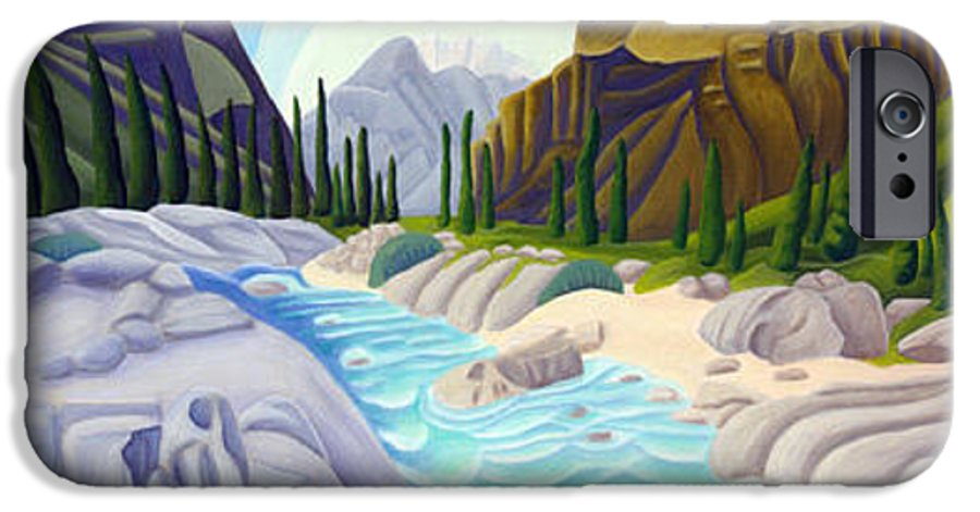 Landscape IPhone 6 Case featuring the painting Rocky Mountain View 5 by Lynn Soehner